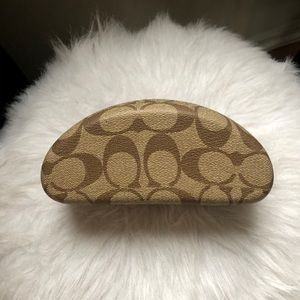 Coach Logo Sunglasses Case, with cleaning cloth